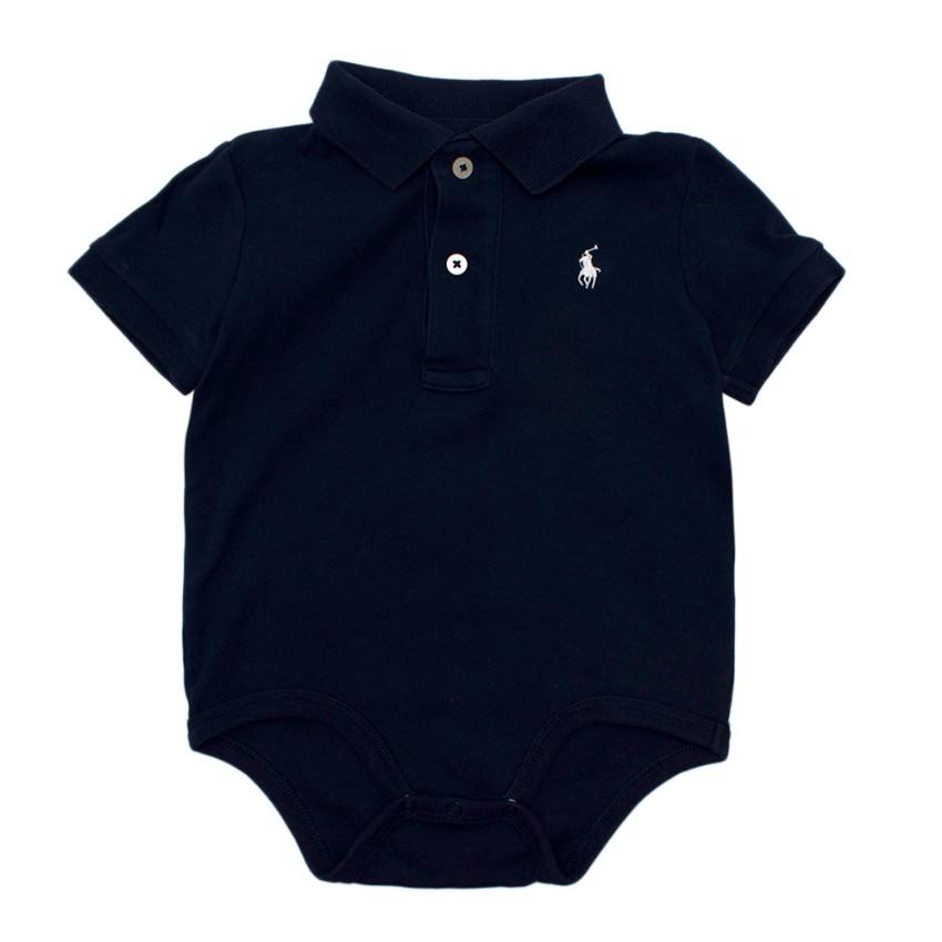 Ralph Lauren Kid's 12M Navy Polo Bodysuit