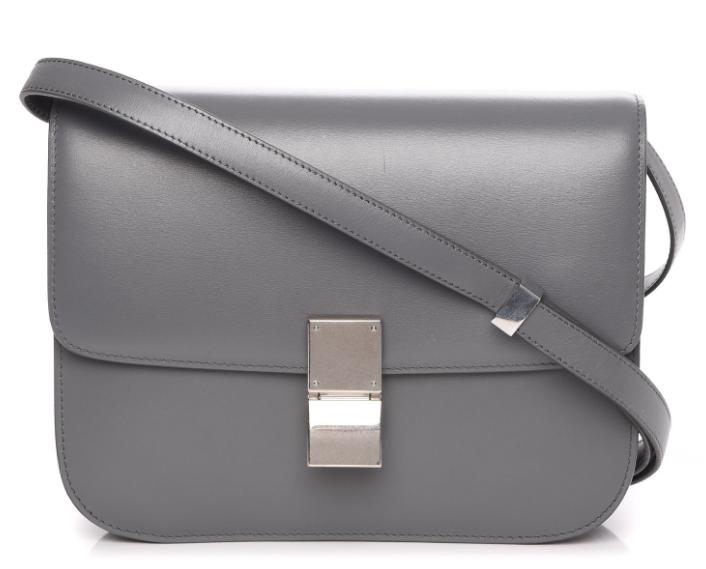 Celine Grey Calfskin Medium Box Bag