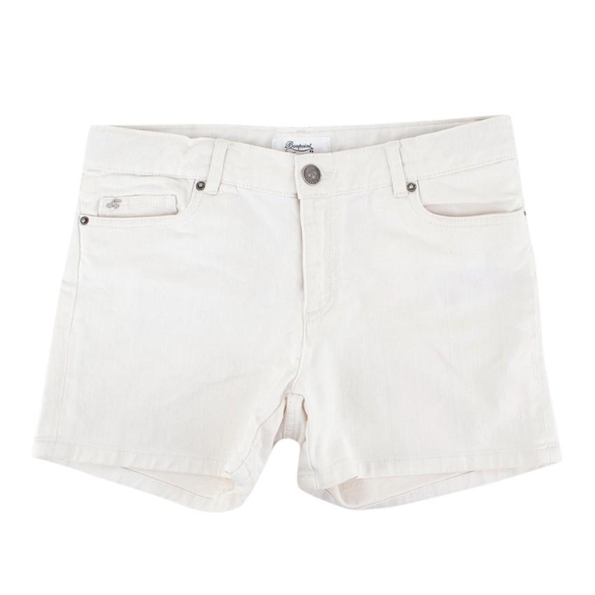 Bonpoint Girls White Denim Shorts