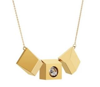 Ruifier Gold Plated Icon Motion Pendant Necklace