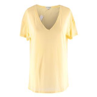 Standard James Perse Yellow Cotton V Neck T-shirt