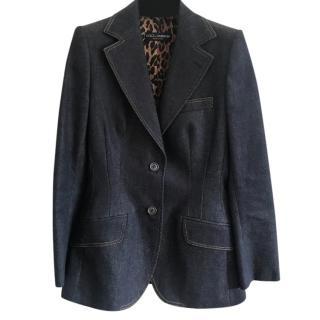 Dolce & Gabbana Denim Tailored Jacket