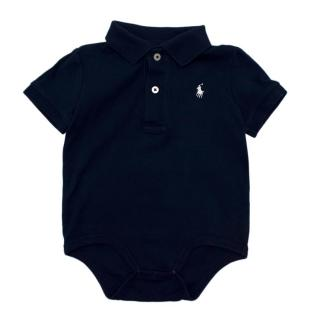 Ralph Lauren Kid's 12M Navy Polo Bodysuit