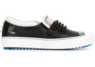 Fendi Embellished Karlito slip-on Sneakers