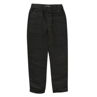 Bonpoint Grey Linen Textured Trousers