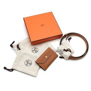 Hermes Gold Colour Epsom Leather Kelly Micro Pocket Belt GHW