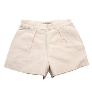 Bonpoint Beige Linen Girls Shorts