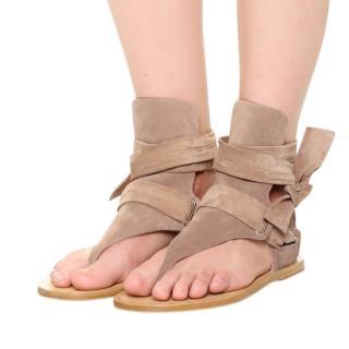 Rag & Bone Sand Mara Ankle Tie Sandals