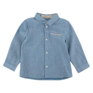 Tartine et Chocolat Blue Cotton Long Sleeve Shirt