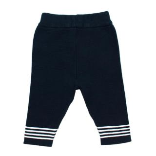 Emile et Rose Navy Cotton Knit Trousers