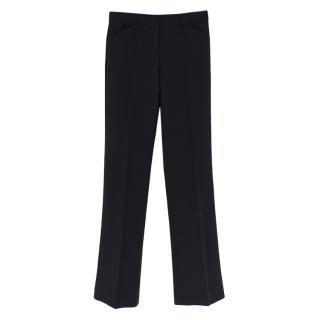 Theory Black Wool Blend Tailored Trousers
