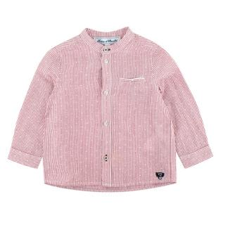 Tartine et Chocolat Red Linen & Cotton Blend Long Sleeve Shirt
