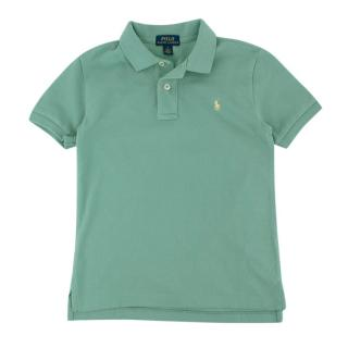 Polo Ralph Lauren Green Cotton Short Sleeve Polo Shirt