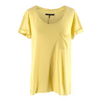Rag & Bone / Knit Yellow Cotton T-shirt