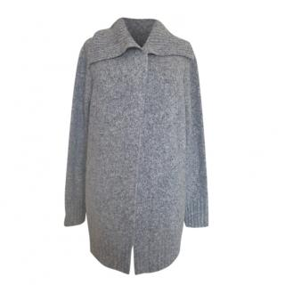 Max Mara Grey Wool Open Cardigan