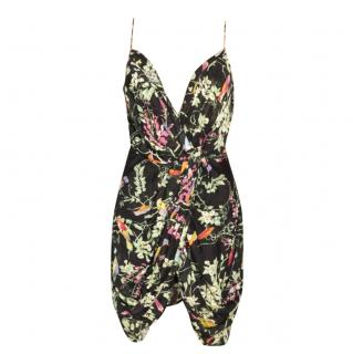 Zimmermann Floral Print Black Mini Dress