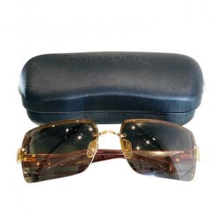 Chanel Brown VIntage CC Sunglasses