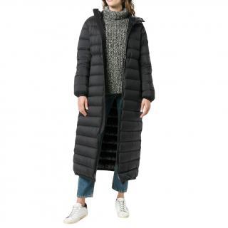 Moncler black quilted down duvet coat