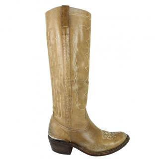 Golden Goose Jessie Embroidered Cowboy Tall Boots