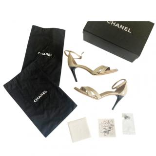 Chanel Two-Tone Leather Sandals