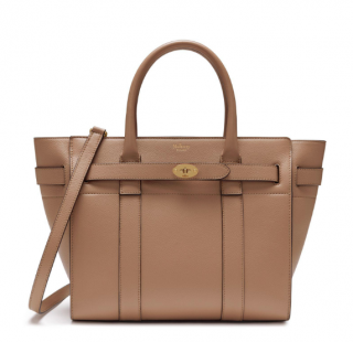 Mulberry Small Zipped Bayswater In Blush Small Classic Grain