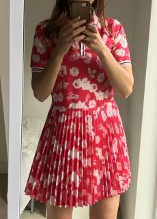 Lanvin Pink Floral Print Mini Dress