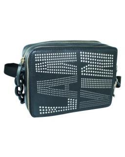 Lanvin Black Laser Cut Shoulder Bag
