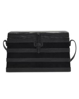 The Square Trunk Stripes in Black Lizard and Suede