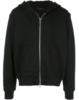 Amiri Distressed Detail Hoodie in Black
