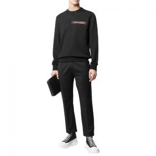 Alexander McQueen Black Logo Tape Men's Sweater