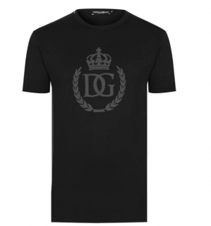 Dolce & Gabbana Black Crest T-Shirt