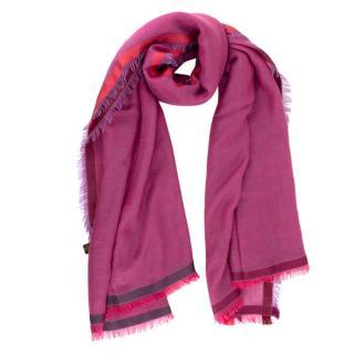 Loro Piana Fuchsia Cashmere & Silk blend shawl 150cm x 150cm