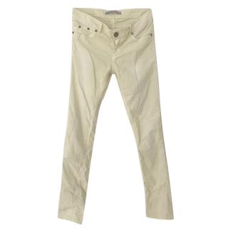 Victoria Beckham Yellow Corduroy Pants