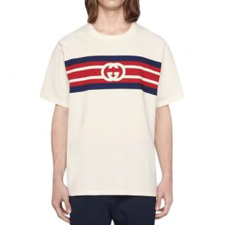 Gucci Interlocking GG striped T-shirt white