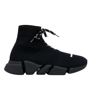 Balenciaga Black Speed 2.0 Lace Up Sneakers