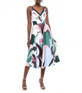 Emilio Pucci Duchess Satin Printed Dress