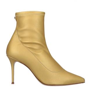 Giuseppe Zanotti Gold Sock Ankle Boots