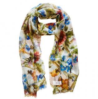 Dolce & Gabbana Floral Bugs Print Silk Scarf