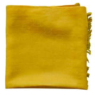 Gucci Yellow Wool & Silk Scarf