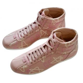 Gucci x Trouble Andrew Pink Ghost High Tops Sneakers