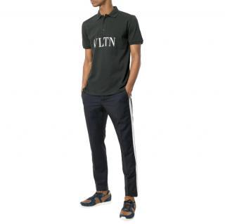 Valentino VLTN Print Black Polo Shirt