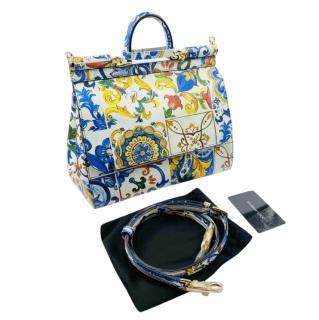 Dolce & Gabbana Majolica Tile Print Sicily Bag