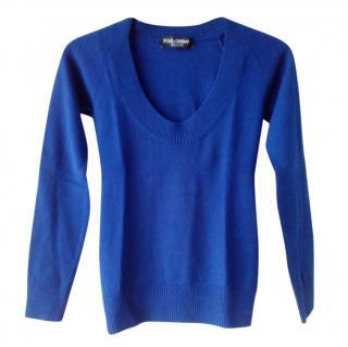 Dolce & Gabbana Blue Wool Jumper
