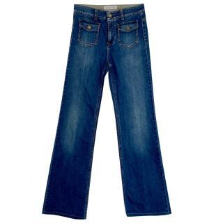 Stella McCartney blue stretch denim boot cut jeans