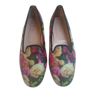 Pretty Ballerina floral print Faye flat loafers