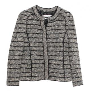 Isabel Marant Grey Tweed Striped blazer