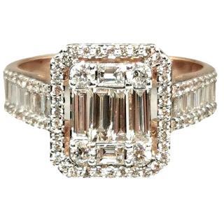 Bespoke 2.99 ct diamond cluster ring