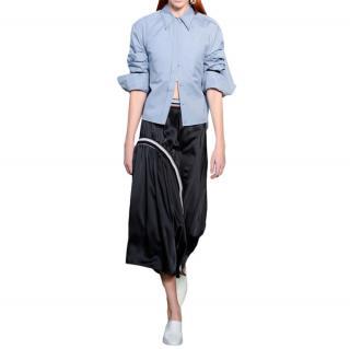 Sportmax light blue a-line cotton shirt