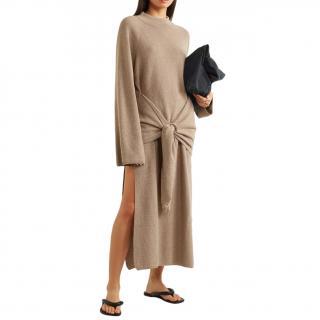 Nanushka Taupe Wool & Cashmere Blend Mahali Knit Dress