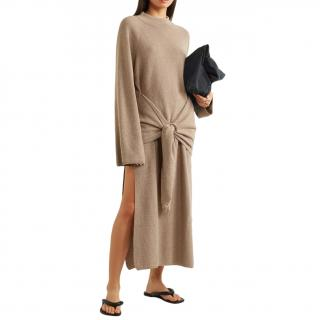 Nanushka Taupe Wool & Cashmere Blend Mahali Knit Dress